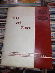 1962 cap and gown book