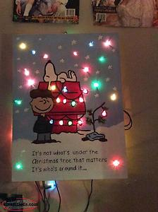 christmas scene with charlie brown