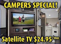 Camper's Special! Get Satellite TV in your camper for just $24.95