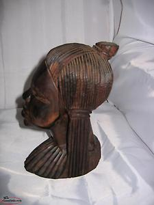 Vintage Hand Carved African Wooden Head - $65