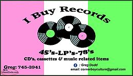 I buy Records, LP's, 45's and 78's