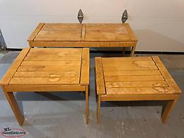 solid wood coffee and end tables