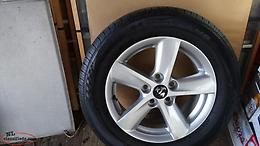 4 Nexon 20565R16 tires with rims. Like new.