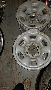 "4, 15"" Toyota/GMC wheels"