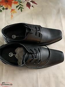 Boys Black Dress Shoes Brand New In Box