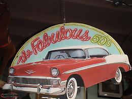 the fabulous 50's cardboard sign