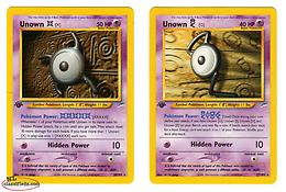 Pokemon Cards - Unown - First Edition - 2 Card Set for Collectors