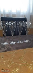 Princess House crystal champagne glasses