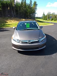 2012 Honda civic 4 door auto 96.000km now $7.900.00