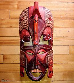 Unique Wooden Wall Mask