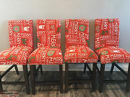 Christmas Chair Covers: Merry Christmas