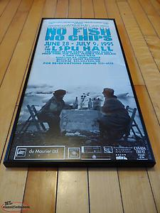 No Fish No Chips Poster 1995 LSPU Hall Framed