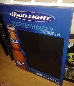 Large Vintage Bud Light Beer Chalkboard Bar Sign