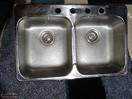 Steel Queen - Double Kitchen Sink with Strainers
