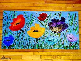 Large Original Flower Artwork