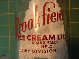 brookfield grand falls milk bottle ( rare one )