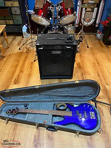 Ibanez 4 string Bass and 100w Fender Bass Amp