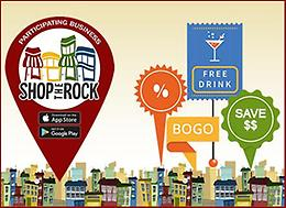 Get special offers from local businesses with Shop The Rock!