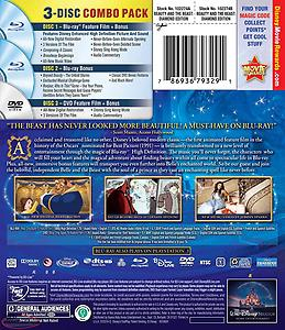 Beauty and the Beast: Diamond Edition - 3-Disc BD Combo Pack (2-Disc BD+DVD). Li