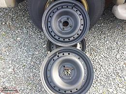 2 TIRES - ONE 15'' AND ONE 14'' ALSO 3 / 15'' / 4 X100 GM / CHEVY STEEL RIMS