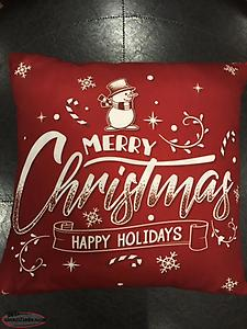 SOLD OUT Red Merry Christmas Pillow Cover- New