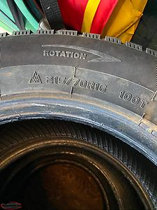 4 Winter tires for sale: 215/70/16