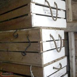 Old wooden lobster boxes