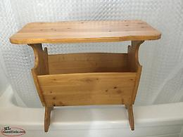 FOR SALE: TABLE (end table) solid wood