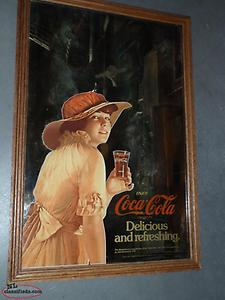 1979 coca cola mirror picture