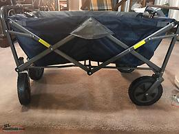 New folding wagon great for going to the beach,campfires,outdoor activities,etc.
