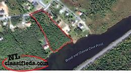Waterfront building lot for sale