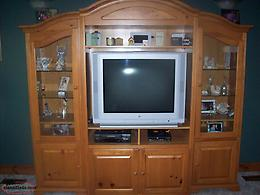 SALE OR TRADE 3 PC WALL CABINET / ENTERTAINMENT CENTER