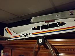 full size remote control air plane with engine and remote