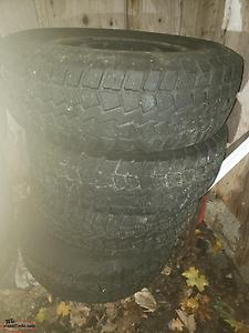 235 75r 16 winter tires and rims