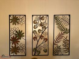 3 Pc Metal Wall Art