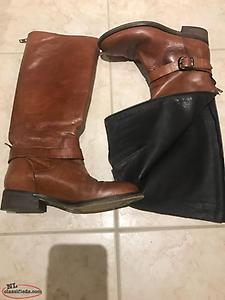 Ladies High Leather Boots Size 6