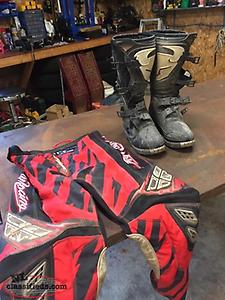 dirtbike pants and boots