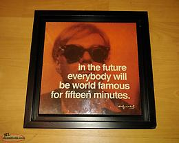"Two Andy Warhol ""Quote"" Framed Pictures"