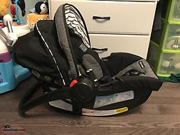 Infant car seat/base with two covers