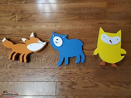 Wooden Animal Wall Decor for Nursery