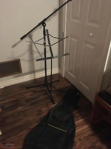 Mic stand, music sheet stand, acoustic gig bag