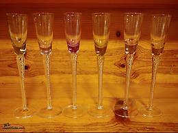 Coloured Stem Shot Drinking Glasses
