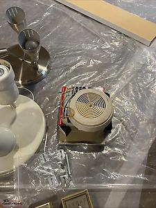 Ceiling lights, electrical plugs/switch, thermostats
