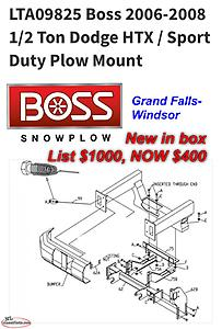 Dodge HTX BOSS plow mount