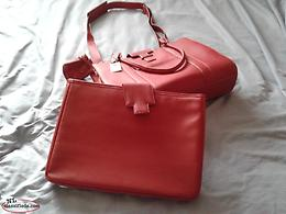 Brand new beautiful red leather bag