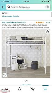 Double Metal loft bed frame