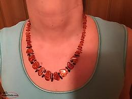 Genuine Baltic amber necklace.
