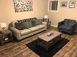 Full Living Room Set (Couch, Chair, Coffee & End Tables, Lamps and Area Rug