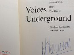 Horwood, Voices Underground. Signed