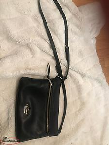 Kate Spade New York Black and Gold Cross Body Purse